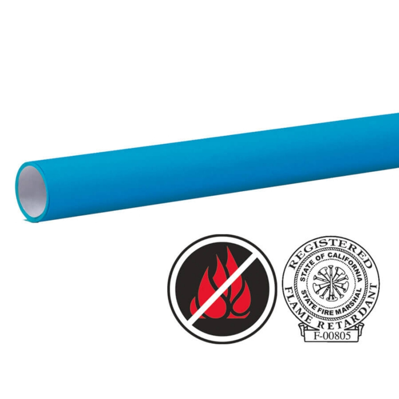 "Pacon Flameless/Fadeless 48""X100', Electric Blue Paper"