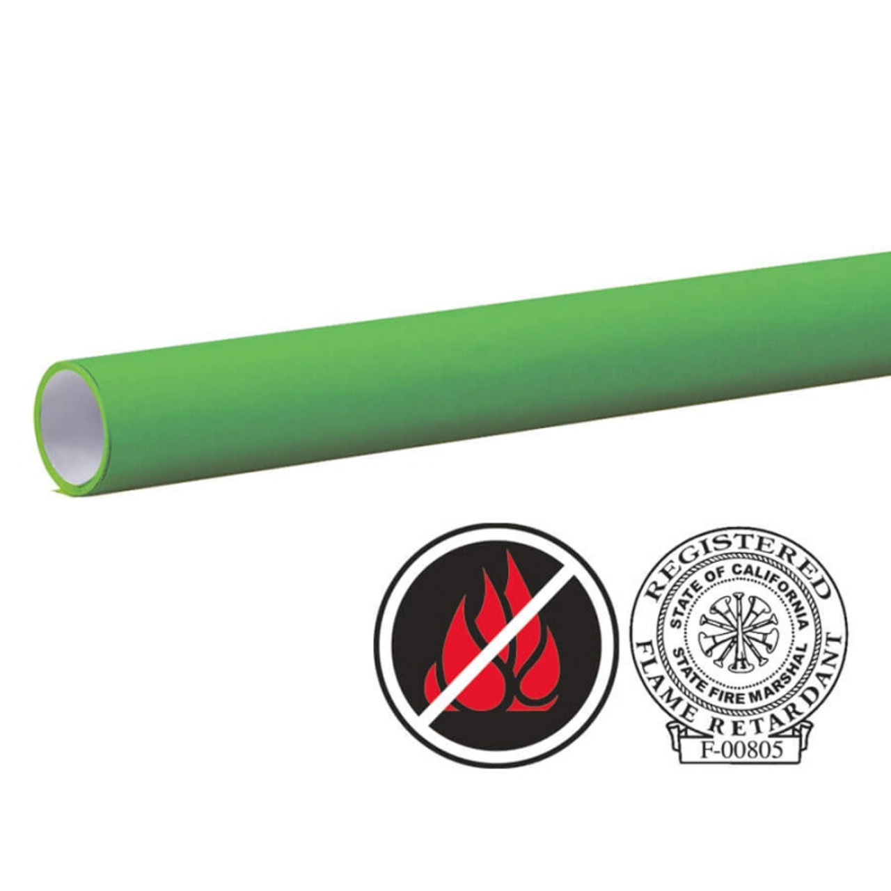 "Pacon Flameless/Fadeless -48""X100', Tropical Green Paper"