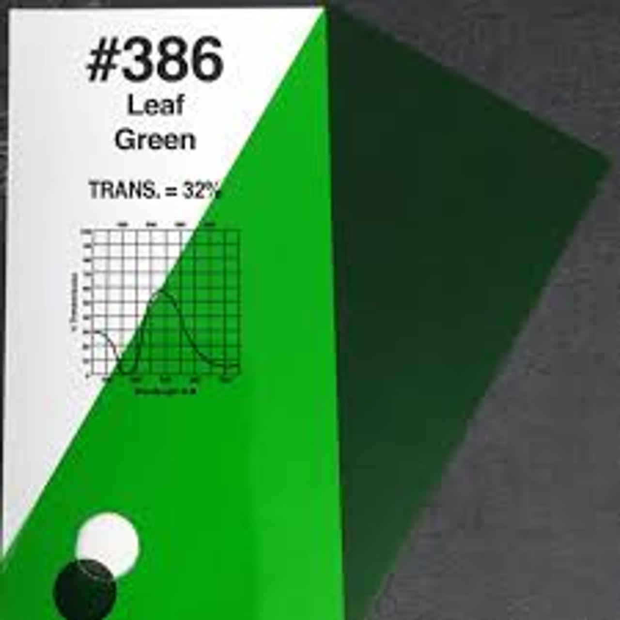 "#0386 Rosco Gels Roscolux Leaf Green, 20x24"""