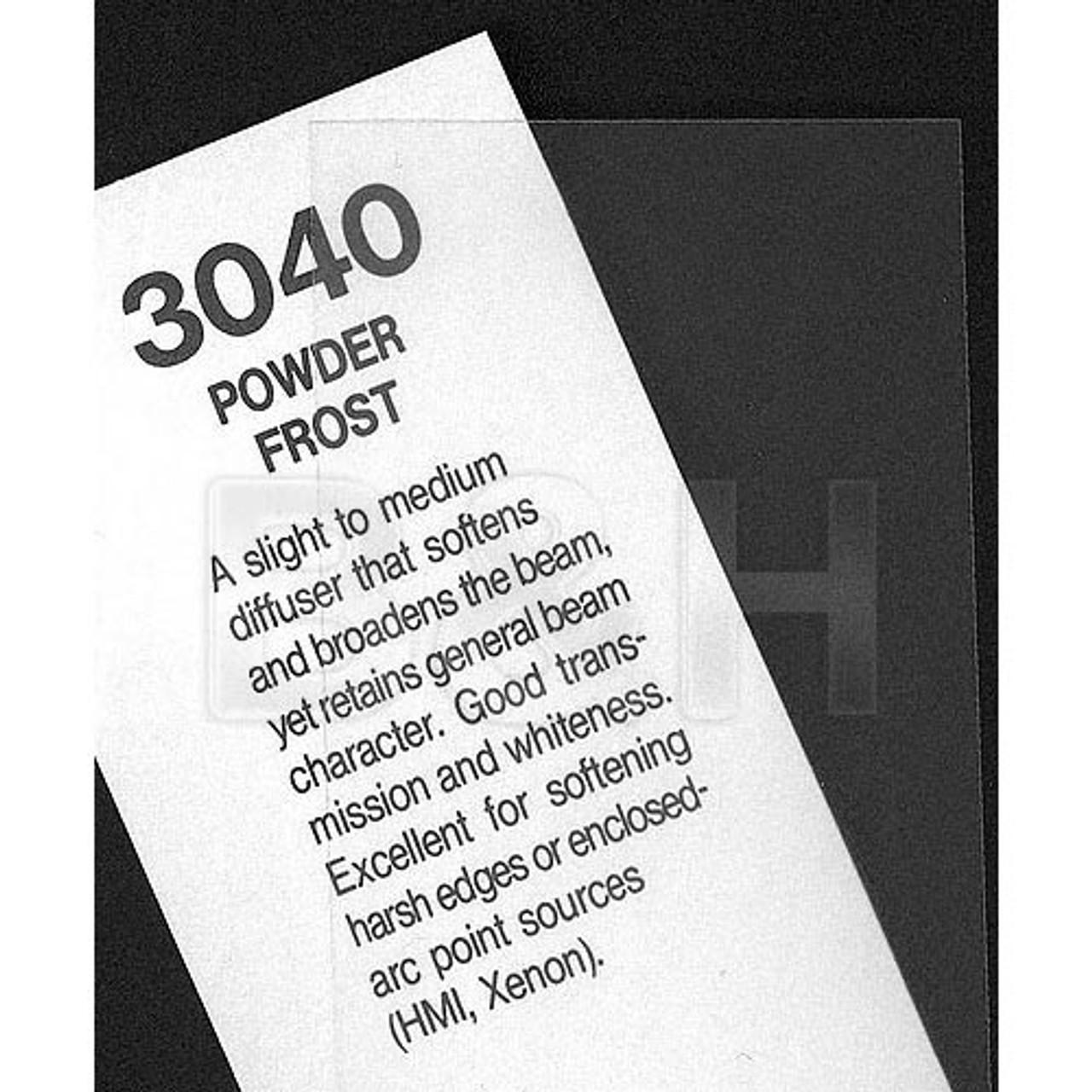 """#3040 Rosco Cinegel Powder Frost, 20x24"""", Gels"""