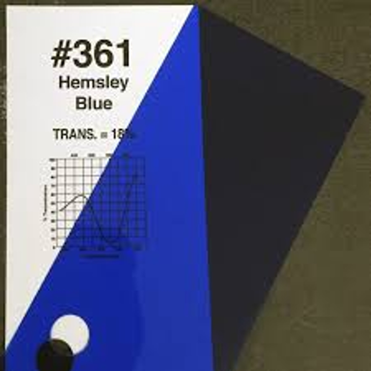 #0361 Rosco Gels Roscolux Hemsley Blue, 20x24""