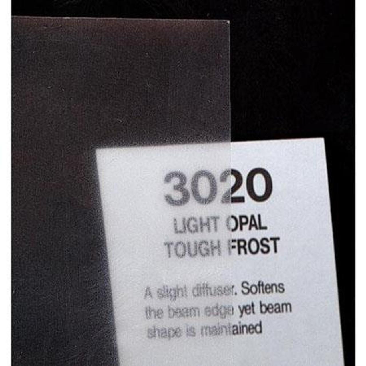 """#3020 Rosco Cinegel Light Opal Tough Frost, 20x24"""", Gels"""