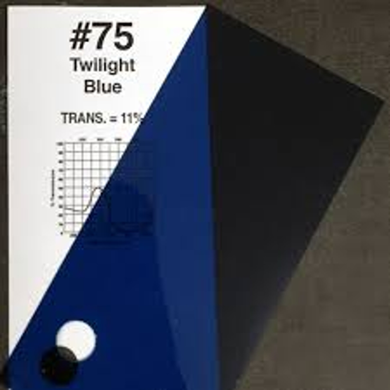 #0075 Rosco Gels Roscolux Twilight Blue, 20x24""