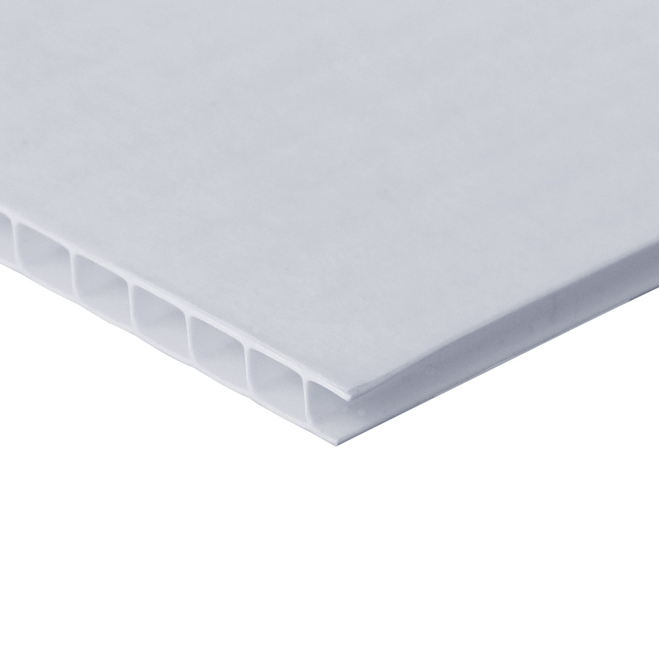 Corrugated Plastic Sheets - Translucent White Color  4'x8'