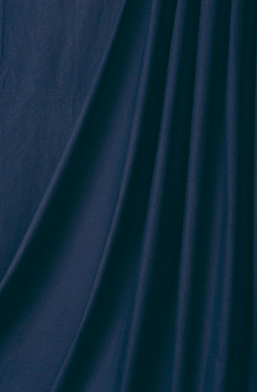 10' x 24' Solid Color Muslin Navy Blue  (3.048mX7.315m)