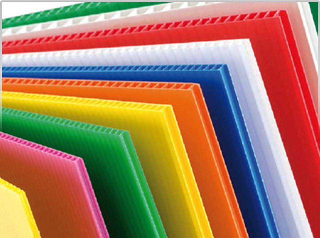 Black Color Corrugated Plastic Sheets 4'x8'
