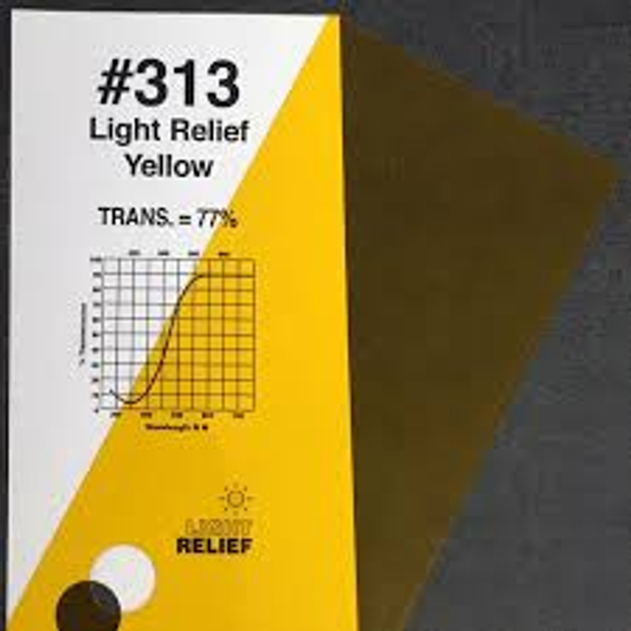 #0313 Rosco Gels Roscolux Light Relief Yellow, 20x24""