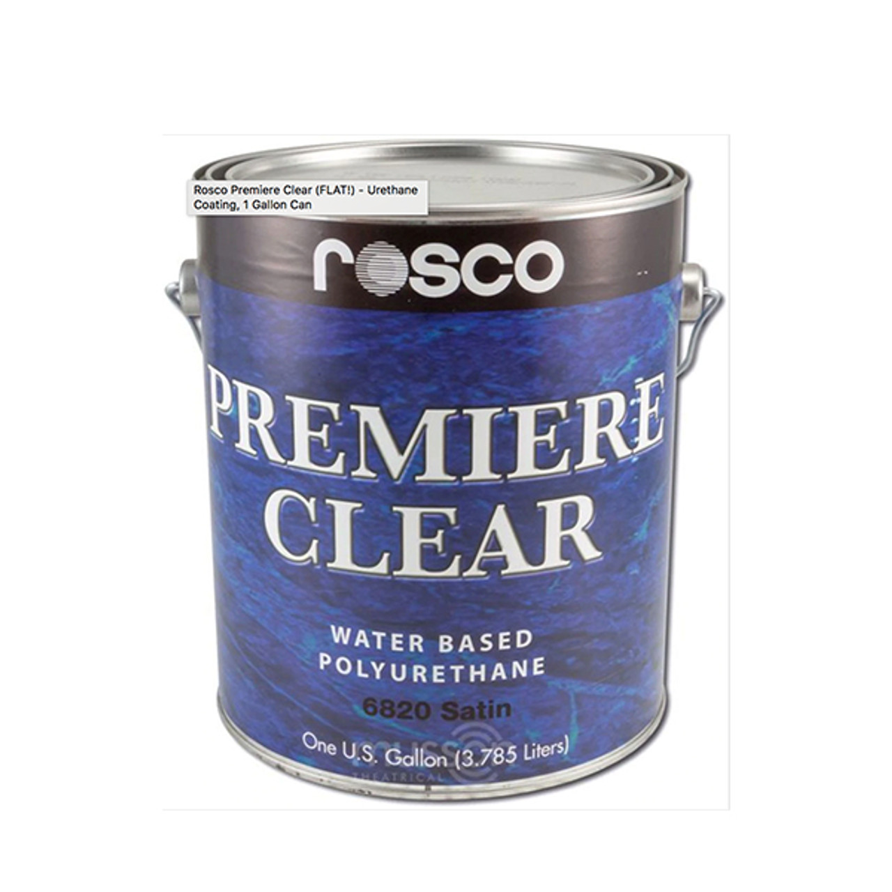 Rosco Premiere Clear (FLAT!) - Urethane Coating, 1 Gallon Can