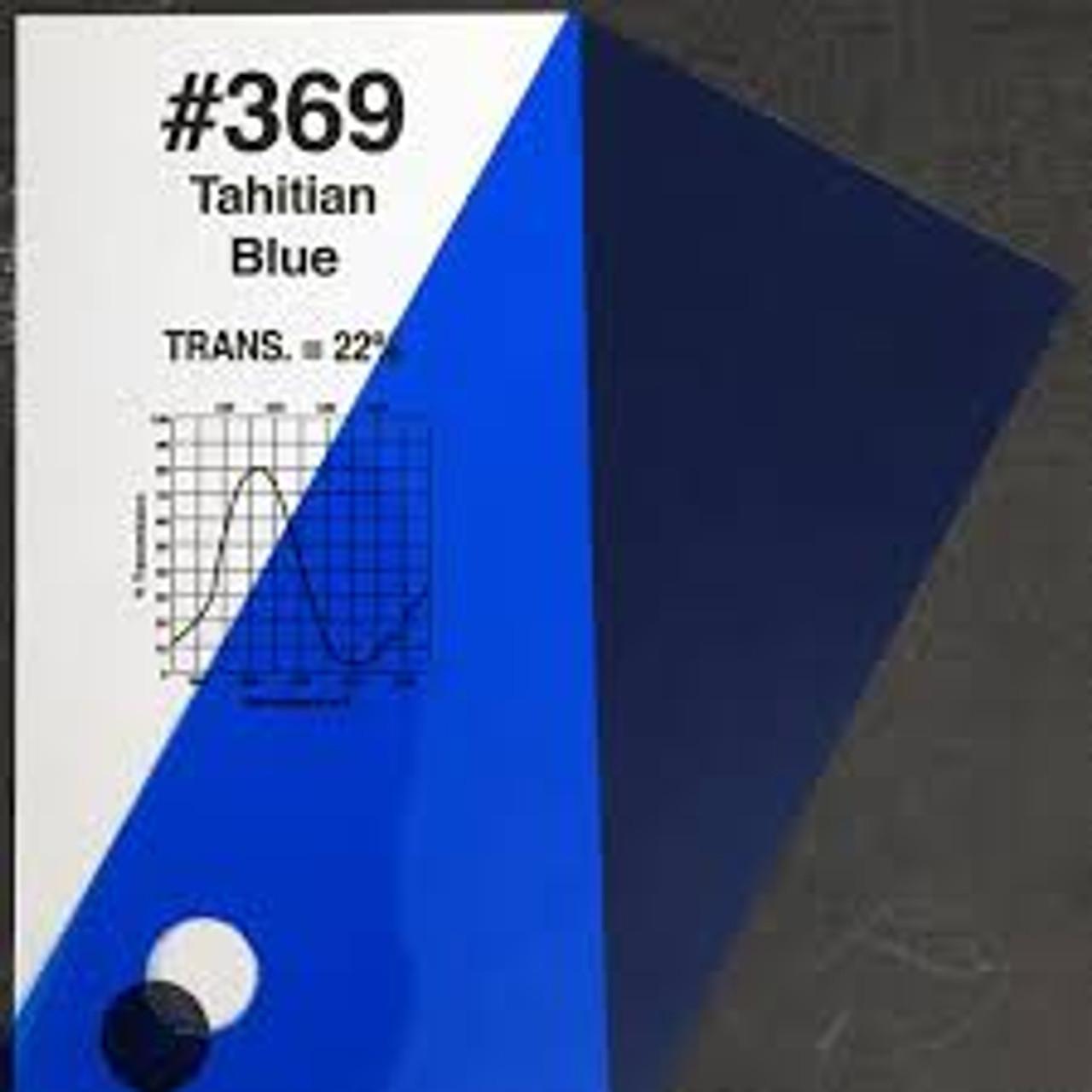 "#0369 Rosco Gels Roscolux Tahitian Blue, 20x24"""