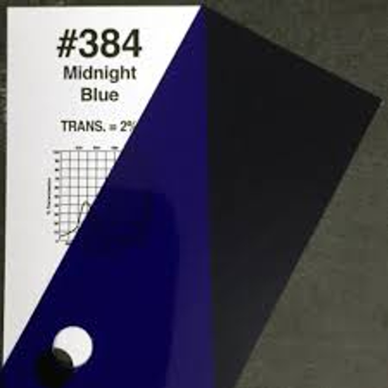 #0384 Rosco Gels Roscolux Midnight Blue, 20x24""