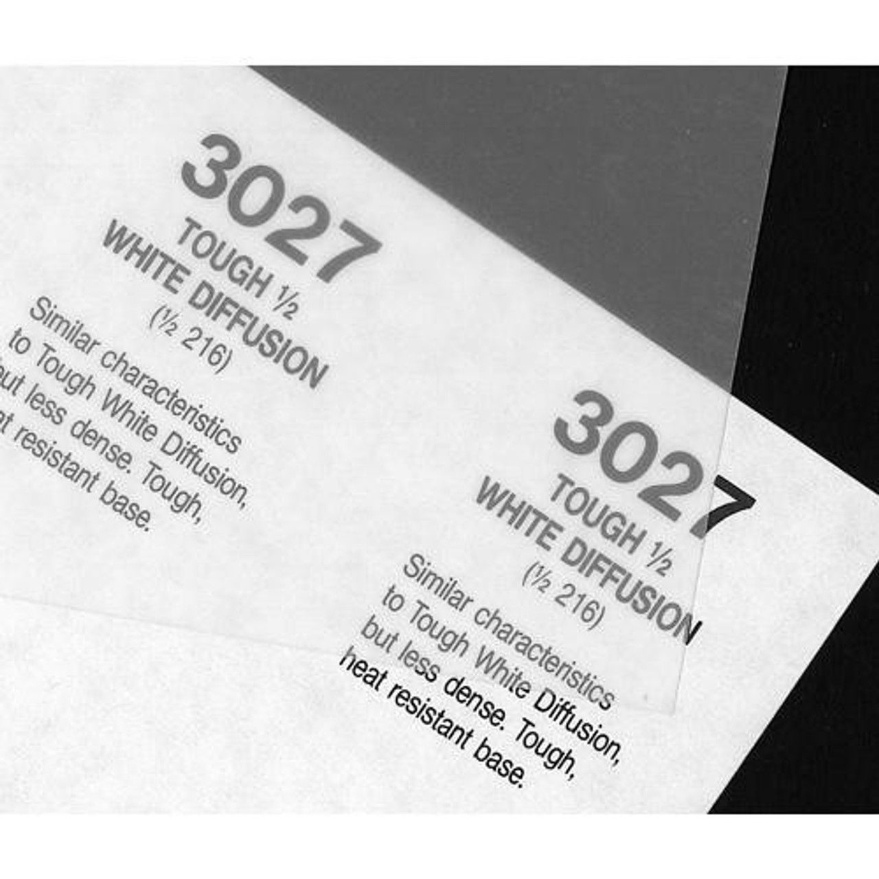 "#3027 Rosco Cinegel 1/2 Tough White Diffusion, 20x24"", Gels"