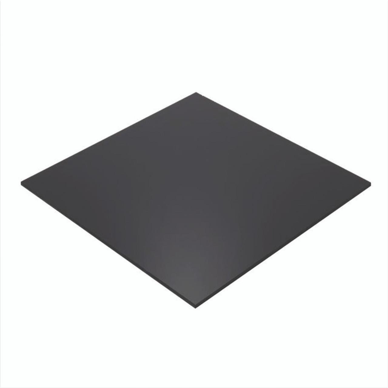 """4' x 8' x 1/8"""" Opaque Black Acrylic Sheet, P95 ( 1 side matte )"""