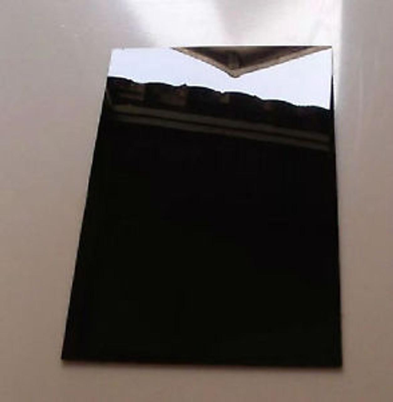 "4' x 8' x 1/4"" Opaque Black Acrylic Sheet, 2 side Glossy"
