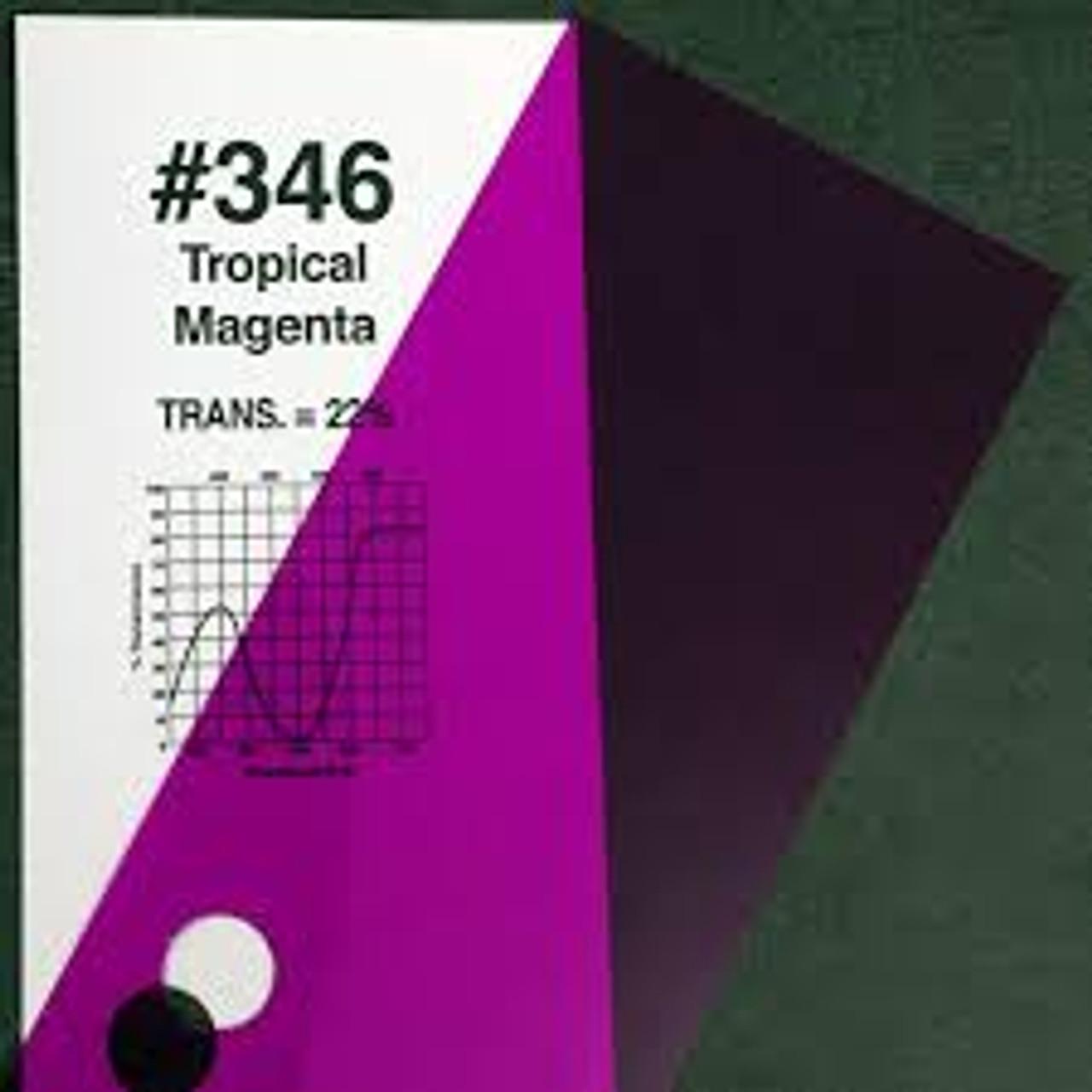 "#0346 Rosco Gels Roscolux Tropical Magenta, 20x24"""