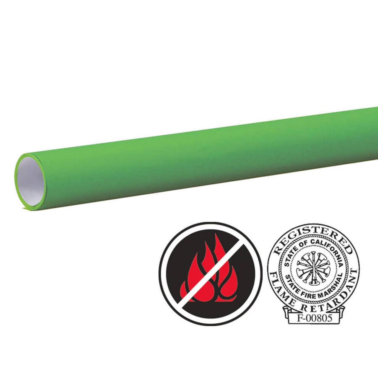 """Pacon Flameless/Fadeless 48""""X100', Shamrock Green Paper"""