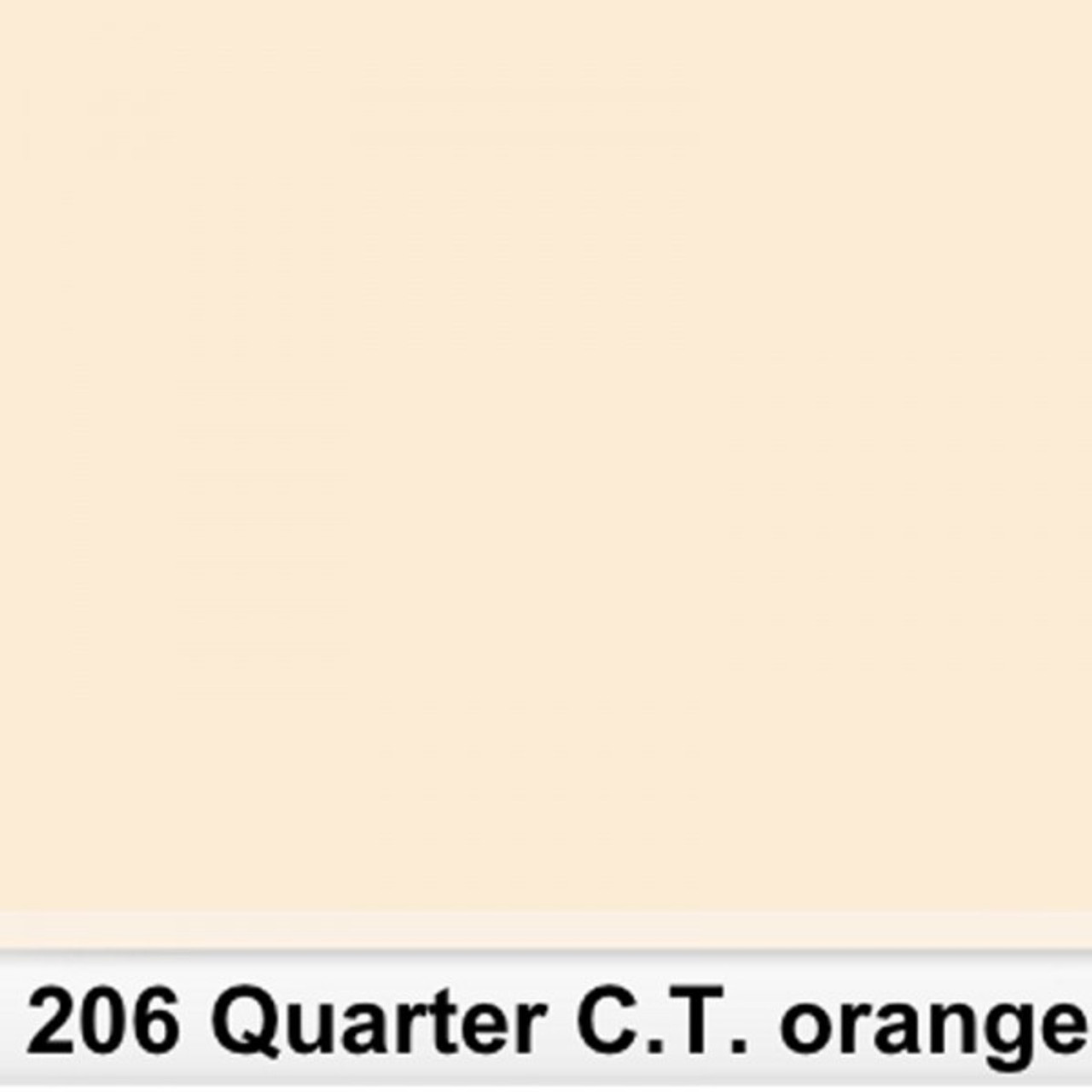 Lee Filters Sheet #206 Qtr C.T. Orange