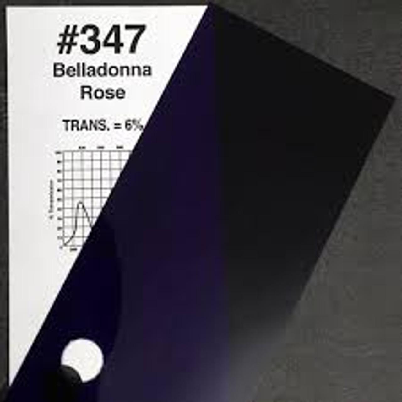 "#0347 Rosco Gels Roscolux Belladonna Rose, 20x24"""