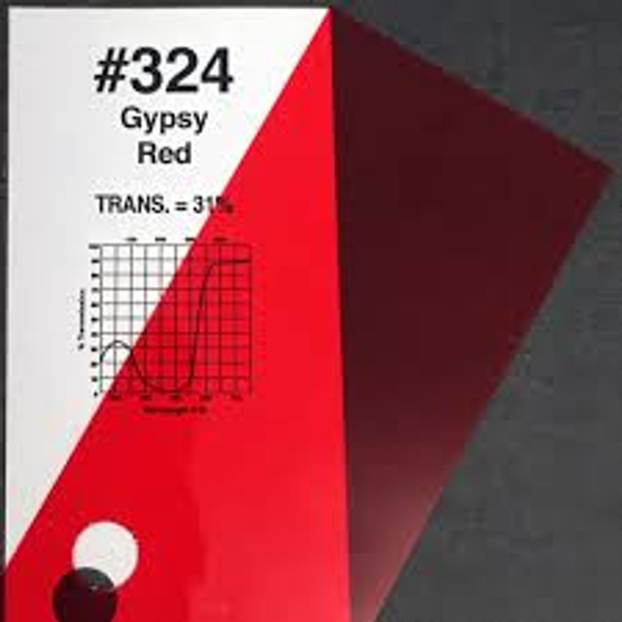 #0324 Rosco Gels Roscolux Gypsy Red, 20x24""