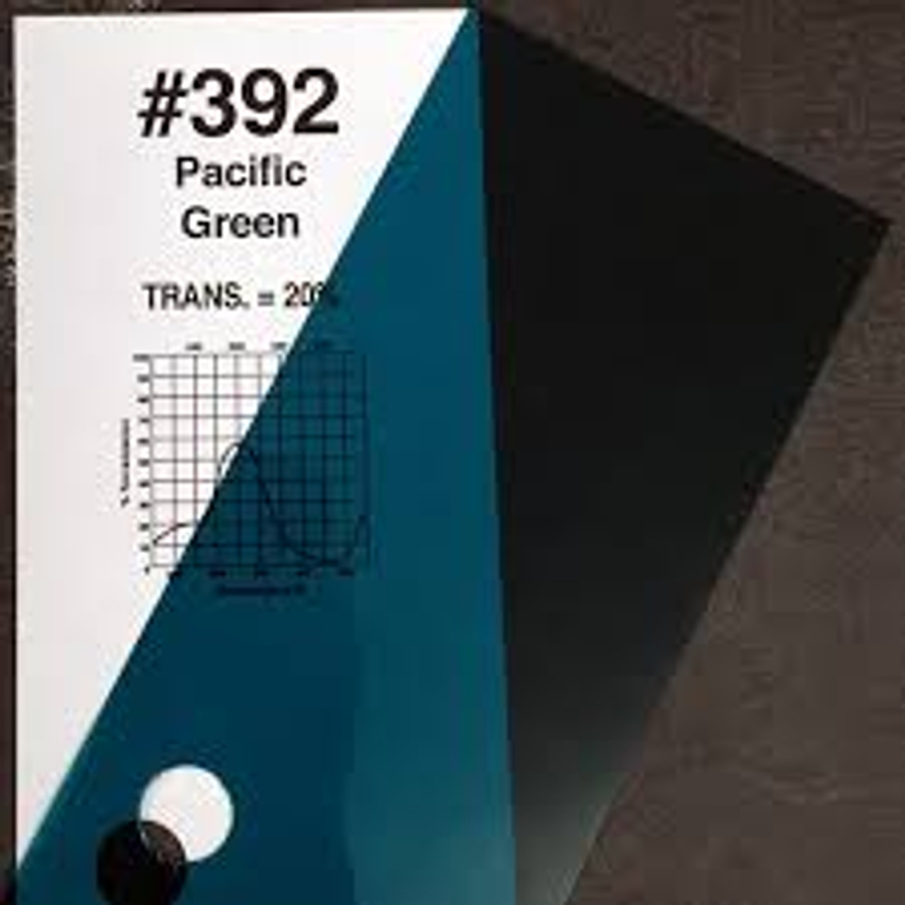 #0392 Rosco Gels Roscolux Pacific Green, 20x24""