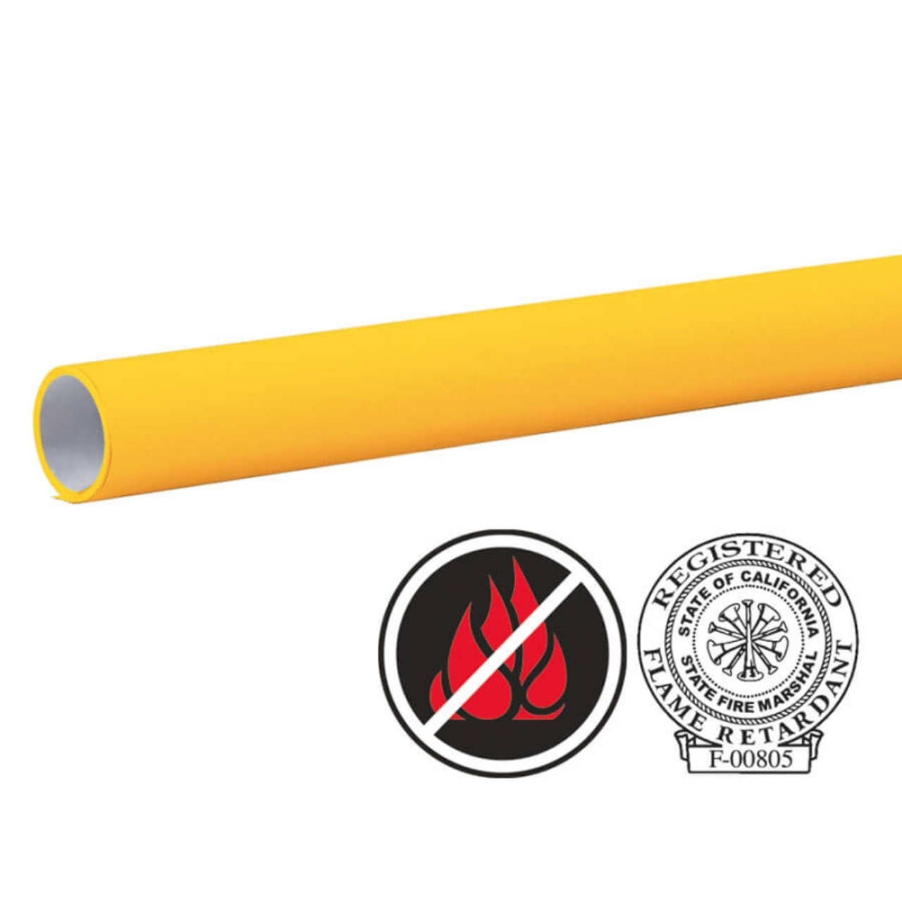 "Pacon Flameless/Fadeless 48""X100', Sunrise Yellow Paper"