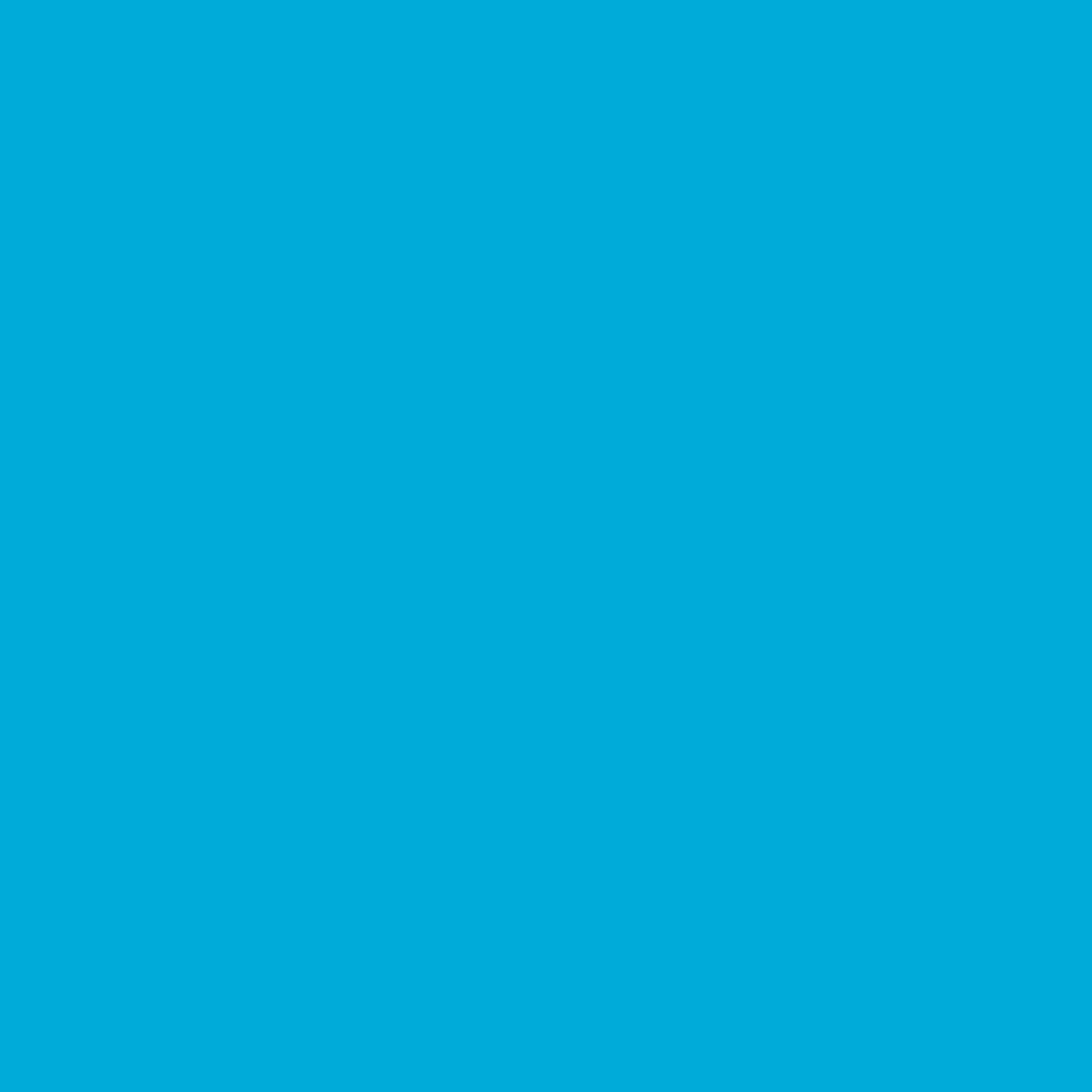 "#0072 Rosco Gels Roscolux Azure Blue, 20x24"""