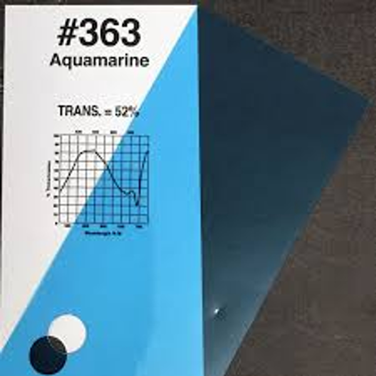 """#0363 Rosco Gels Roscolux Aquamarine, 20x24"""""""