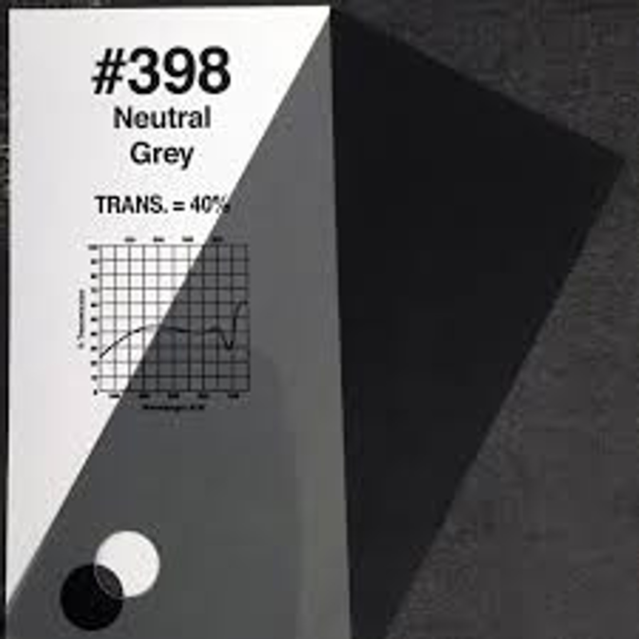 #0398 Rosco Gels Roscolux Neutral Grey, 20x24""