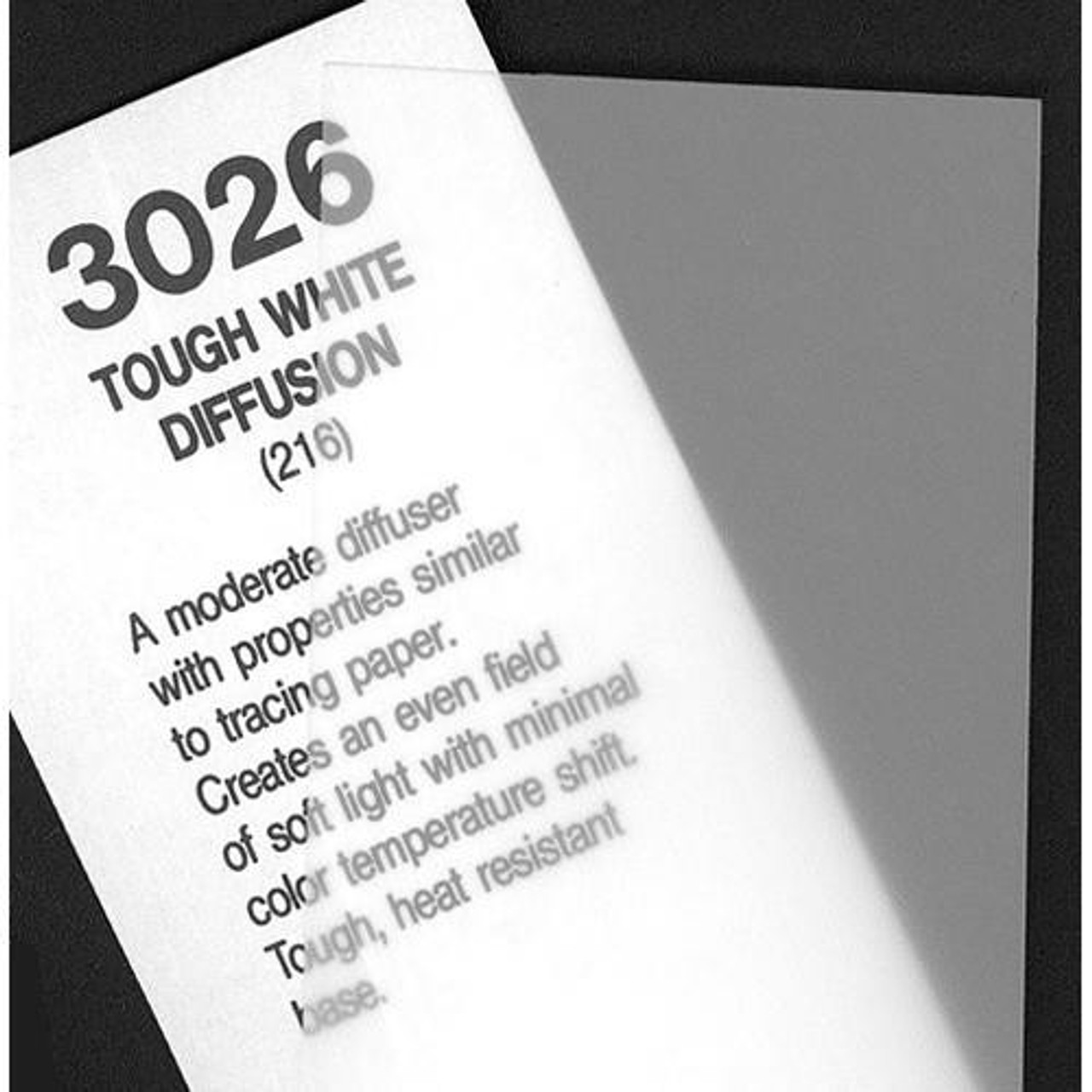 "#3026 Rosco Cinegel Tough White Diffusion, 20x24"", Gels"