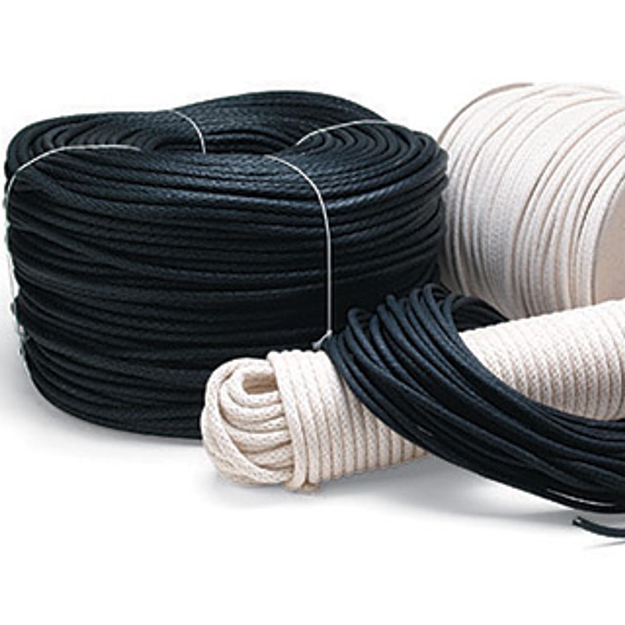 Sash Cord - Black - 100 ft. #6