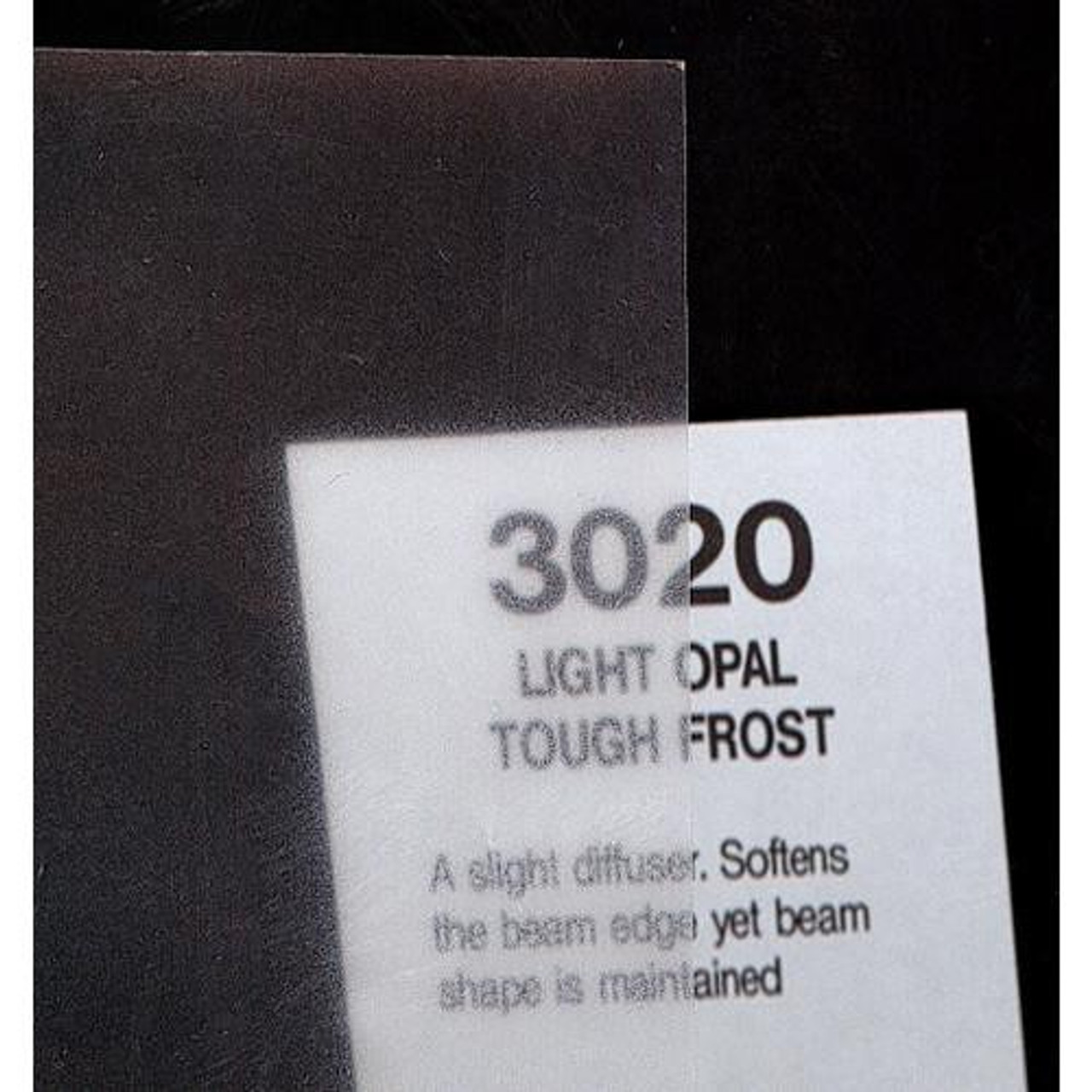 Rosco Cinegel #3020: Light Opal Tough Frost, Gels
