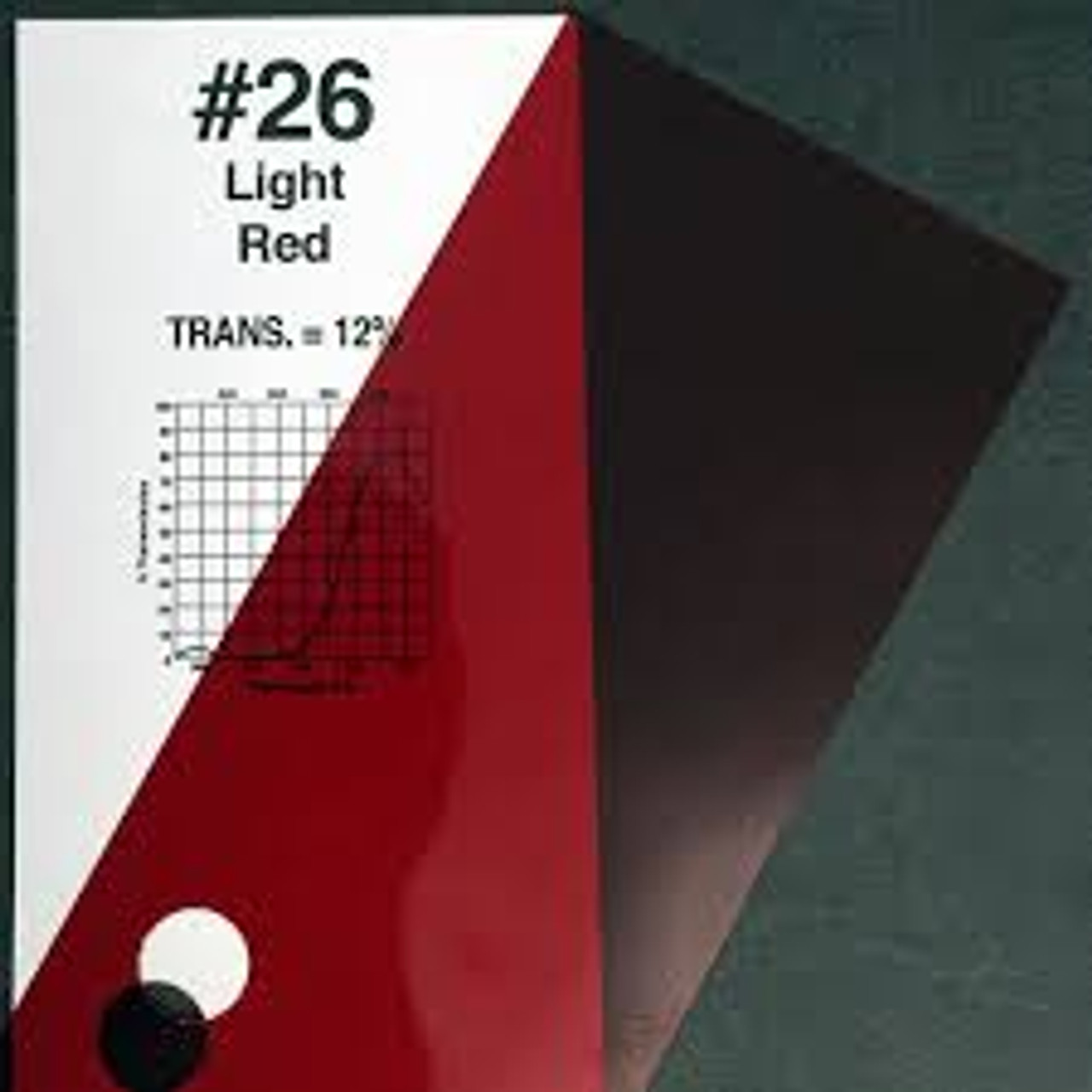 #0026 Rosco Gels Roscolux Bright Red, 20x24