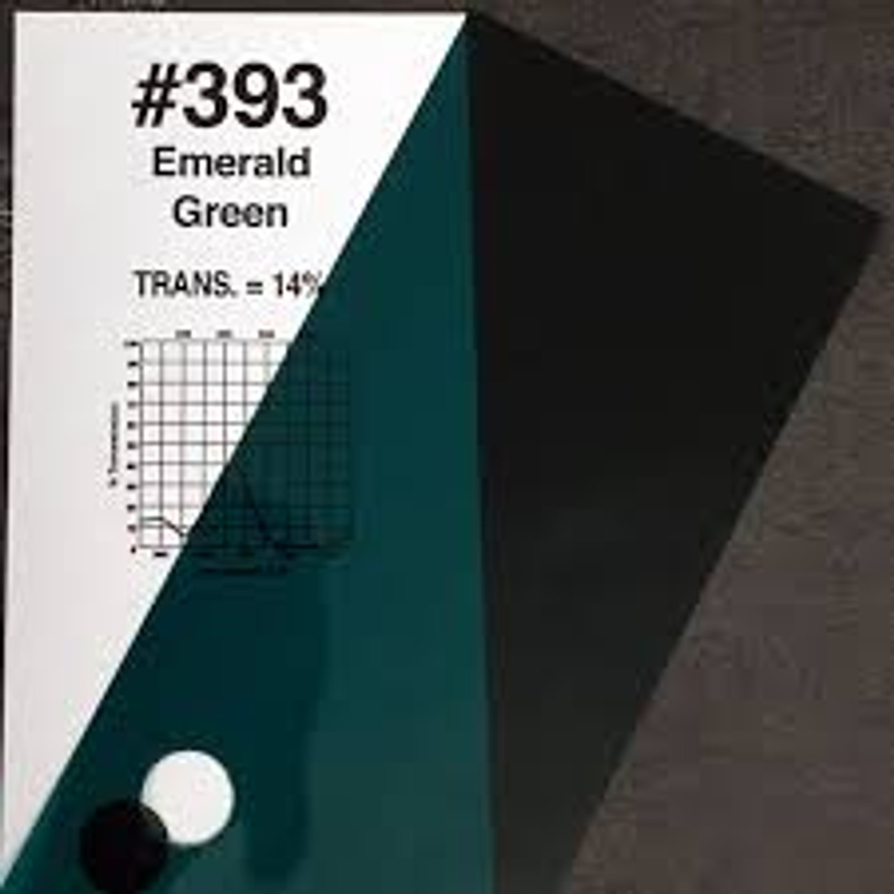 #0393 Rosco Gels Roscolux Emerald Green, 20x24""
