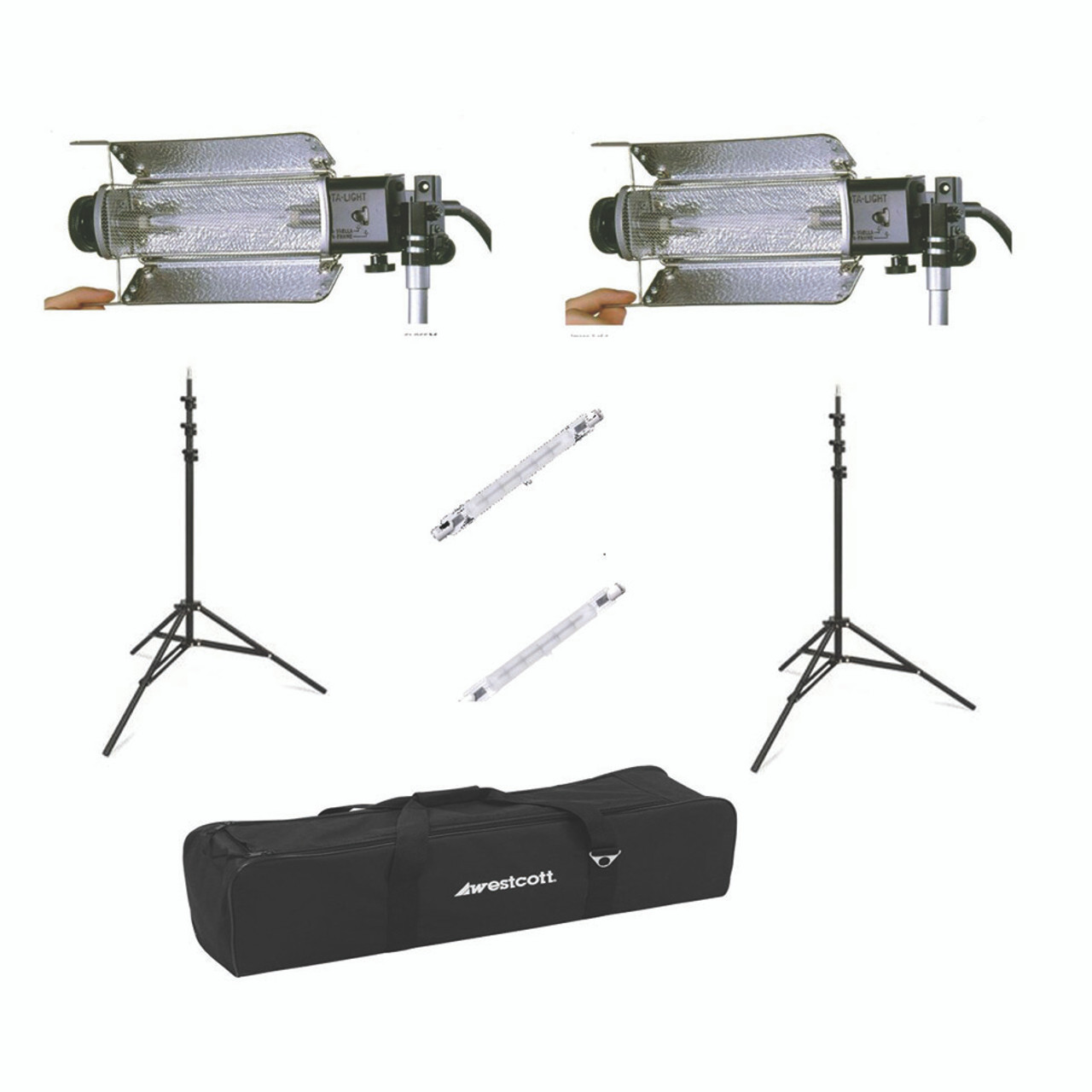 Rental - Lowell Tota Lighting Kit w/Stands (2) (200 Watt)