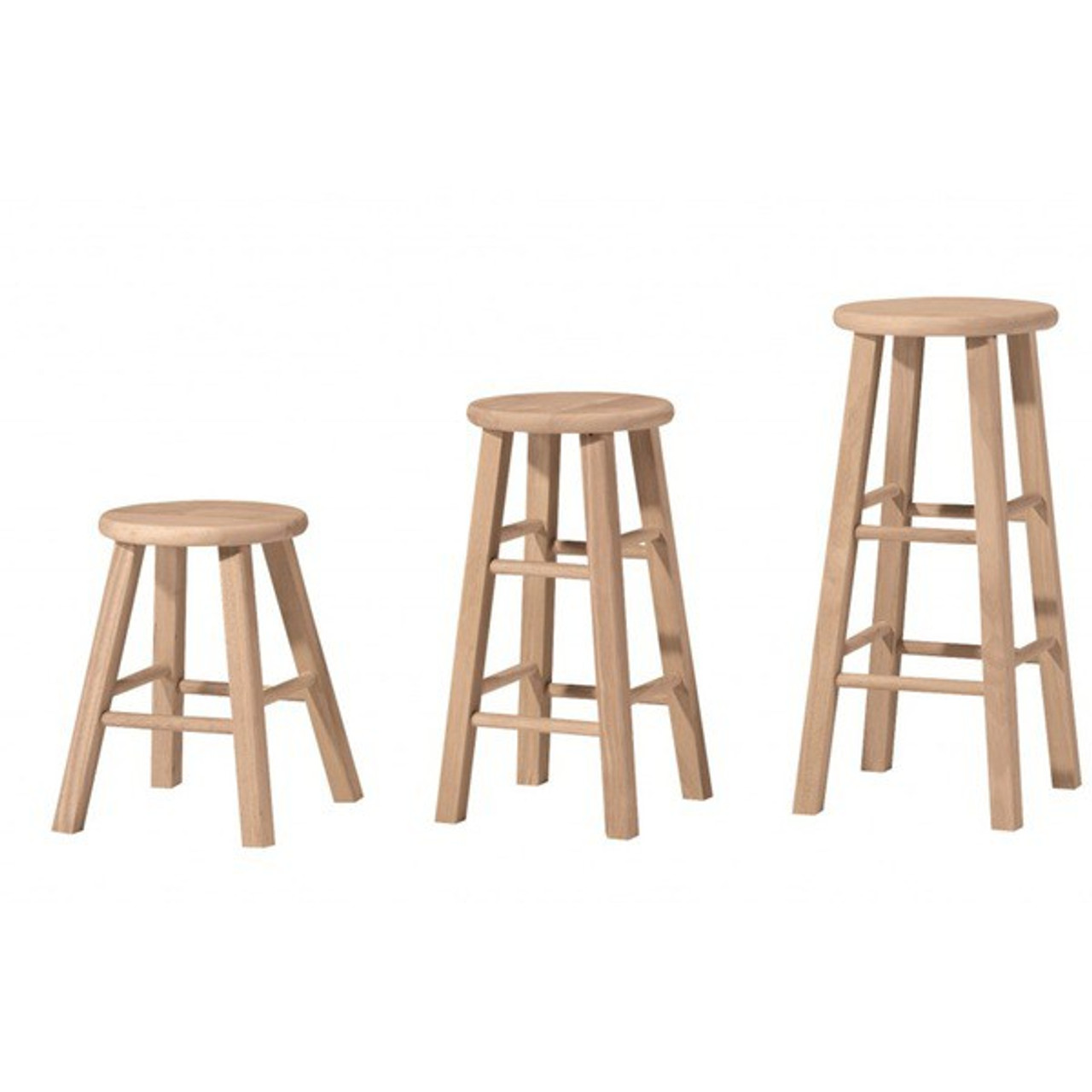 "Rental - Wooden Stool (18""/24""/29"")"
