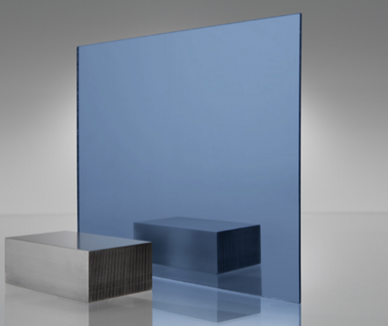 4x8' Mirrored Acrylic BLUE Light