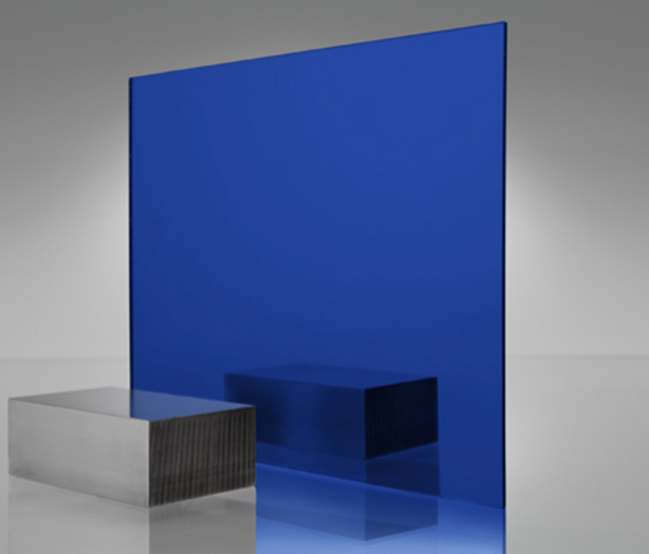 4x8' Mirrored Acrylic BLUE Darkx
