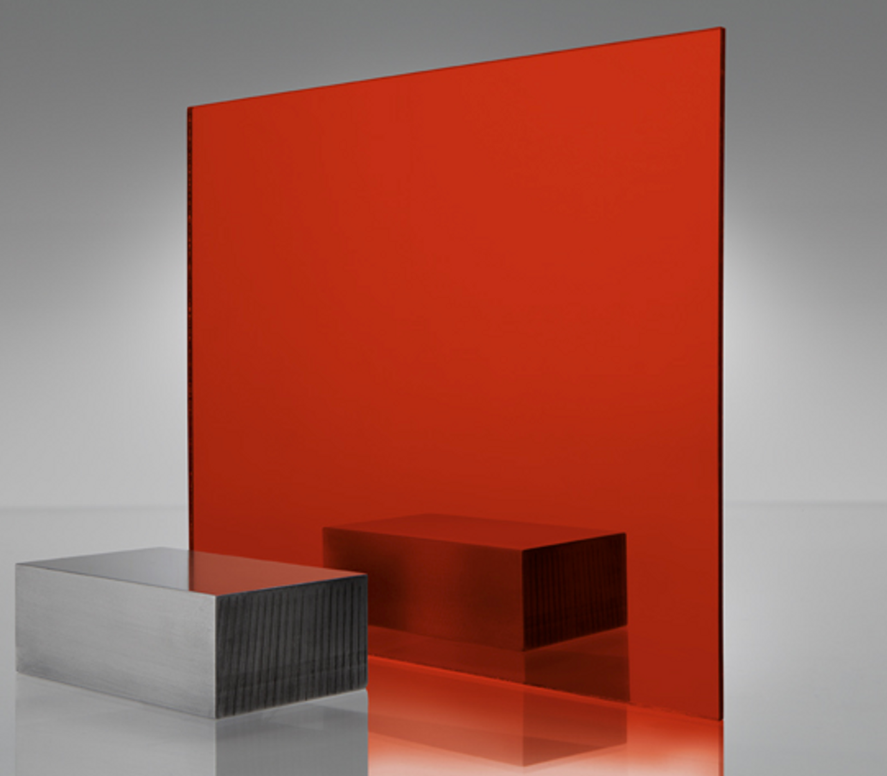4x8' Mirrored Acrylic RED Light