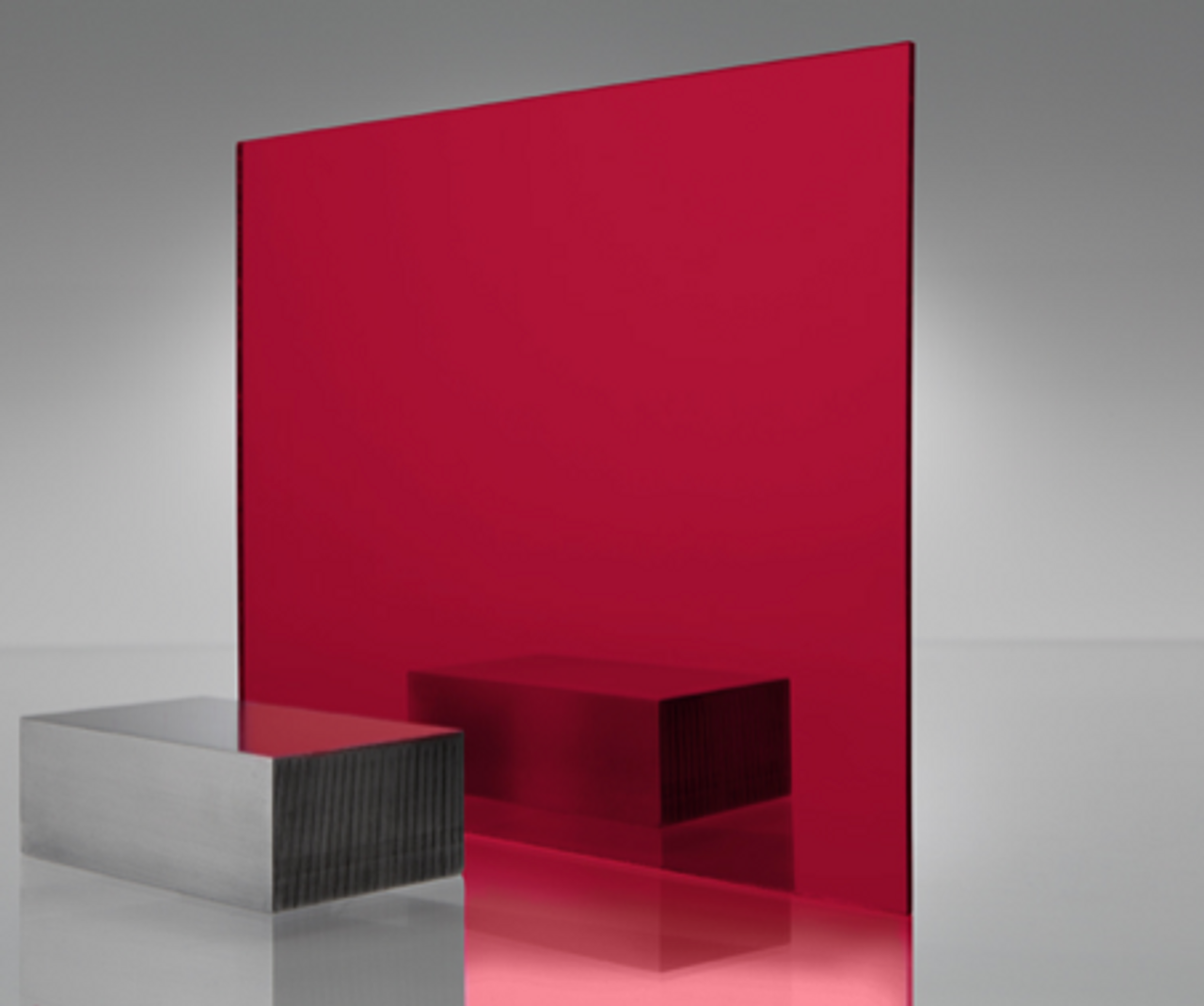 4x8' Mirrored Acrylic RED Med.