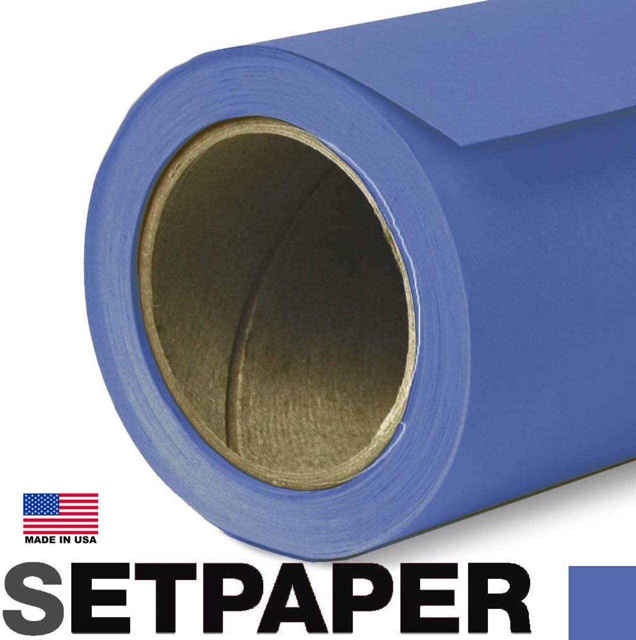 "SETPAPER - ROYAL BLUE (CHROMA BLUE) 107"" x 36' (2.7 x 11m)"