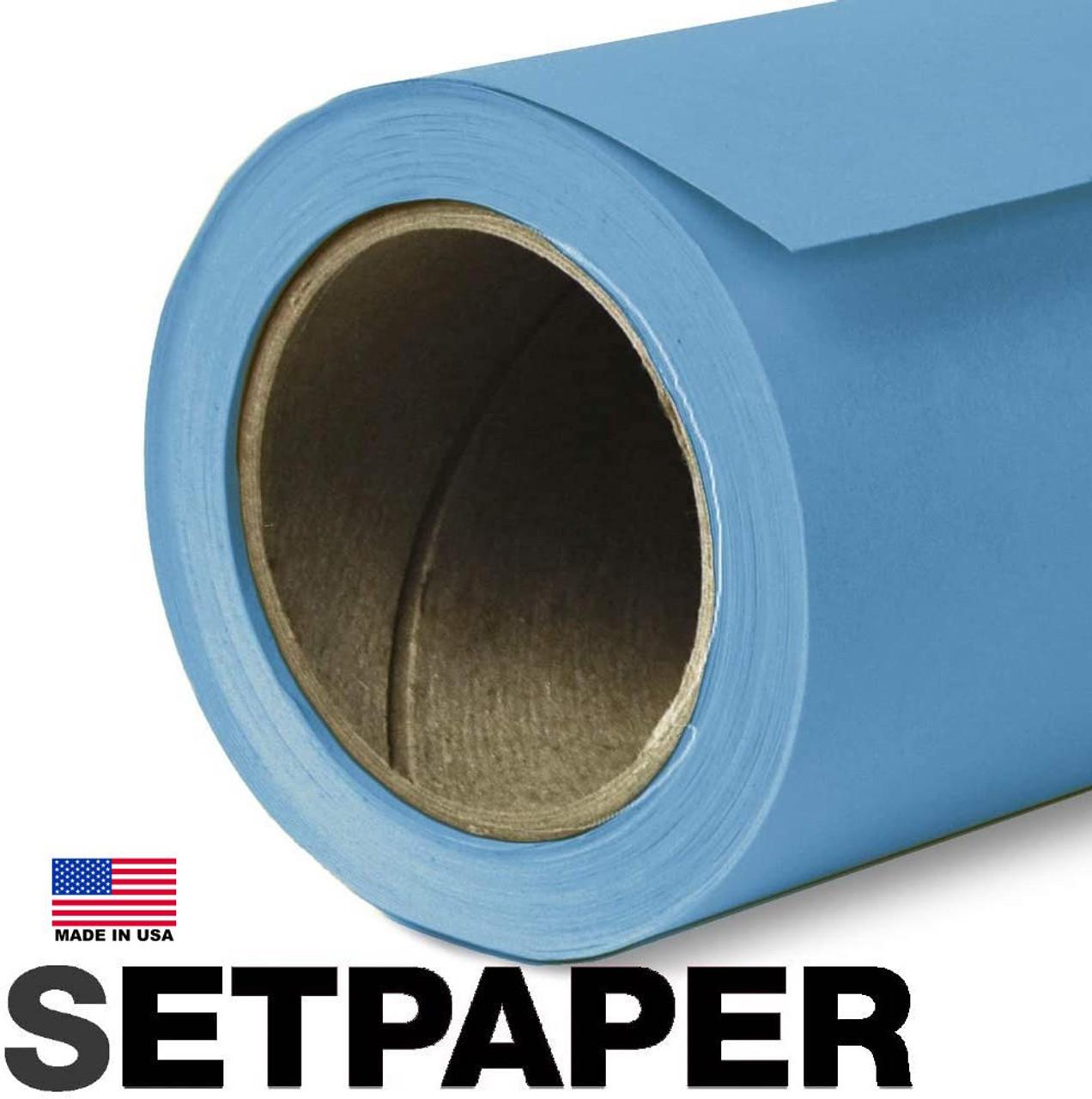 "SETPAPER - GULF BLUE 107"" x 36' (2.7 x 11m)"