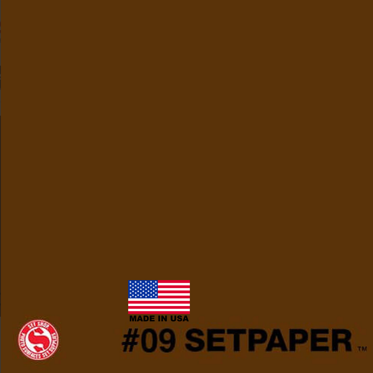SETPAPER - DARK BROWN 107″ x 36' (2.7 x 11m)