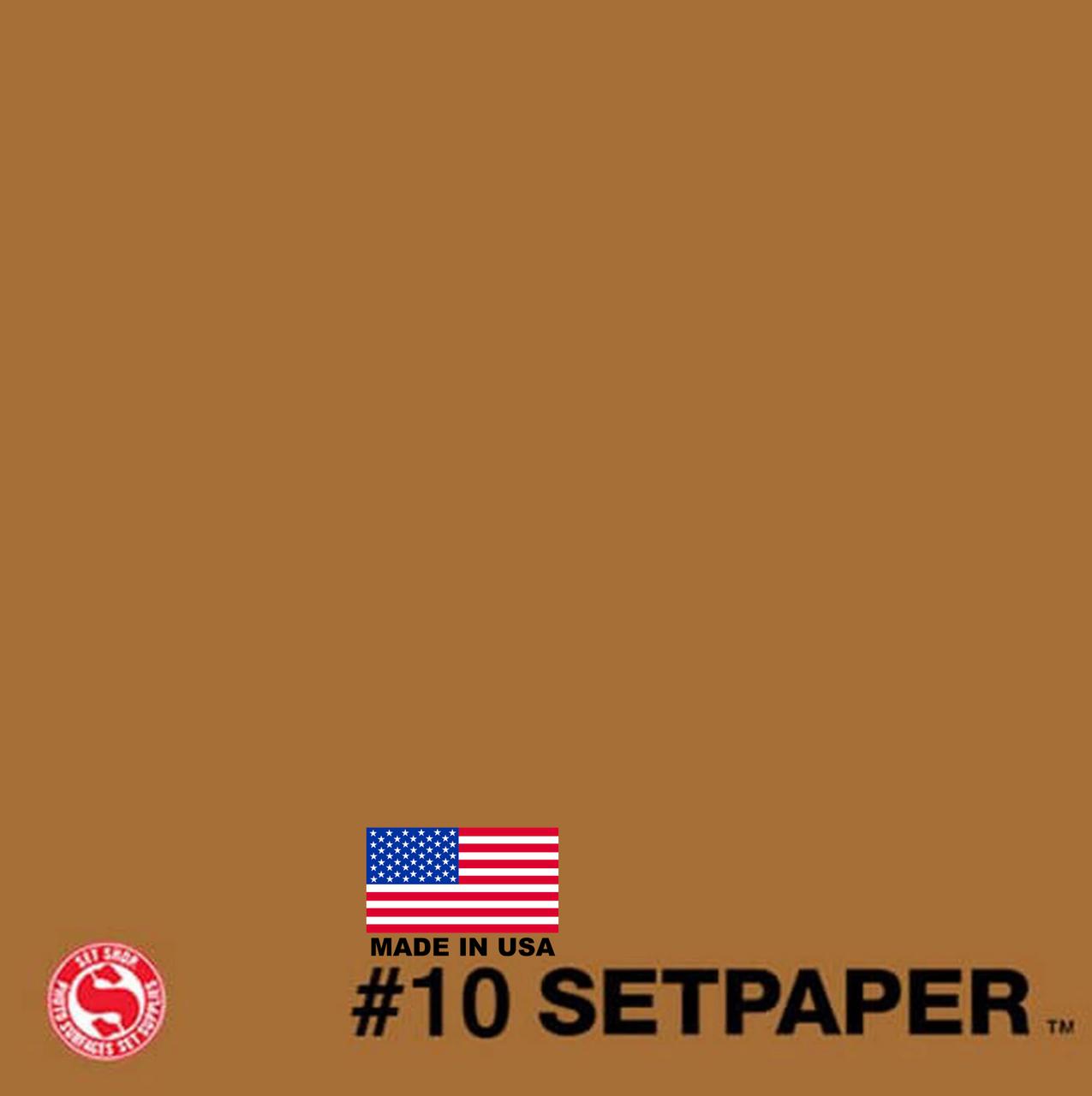 "SETPAPER - BURNT UMBER 107"" x 36' (2.7 x 11m)"
