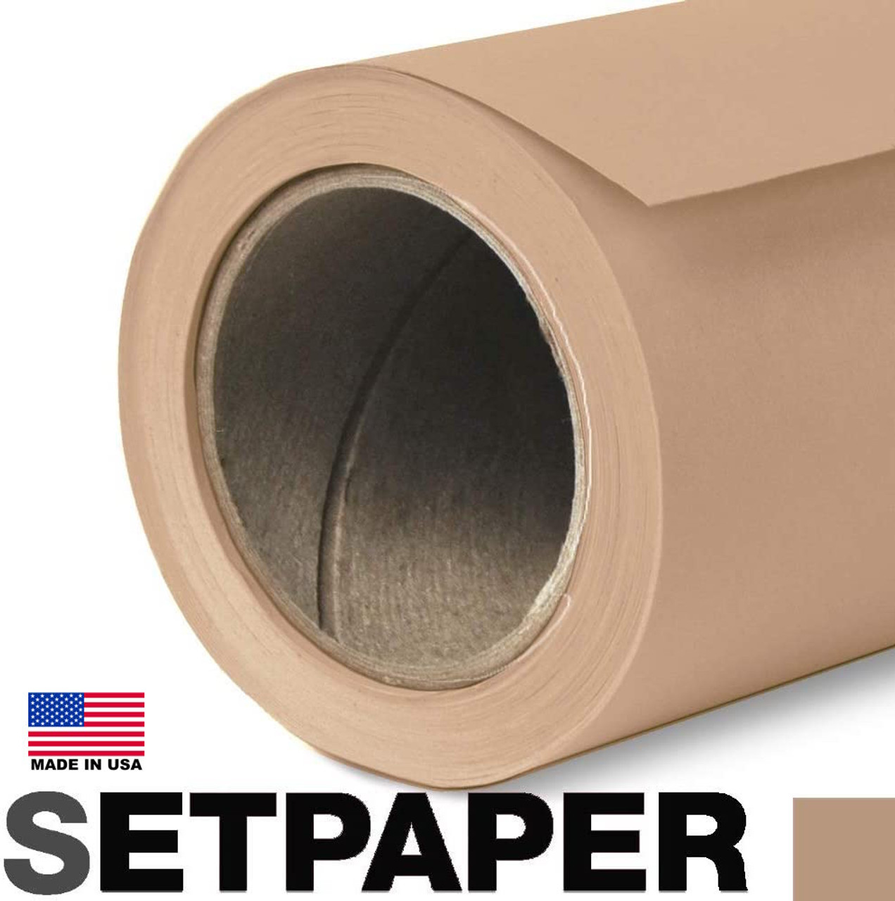 "EXTRA LONG SETPAPER - TAN 107"" x 36' (2.7 x 11m)"