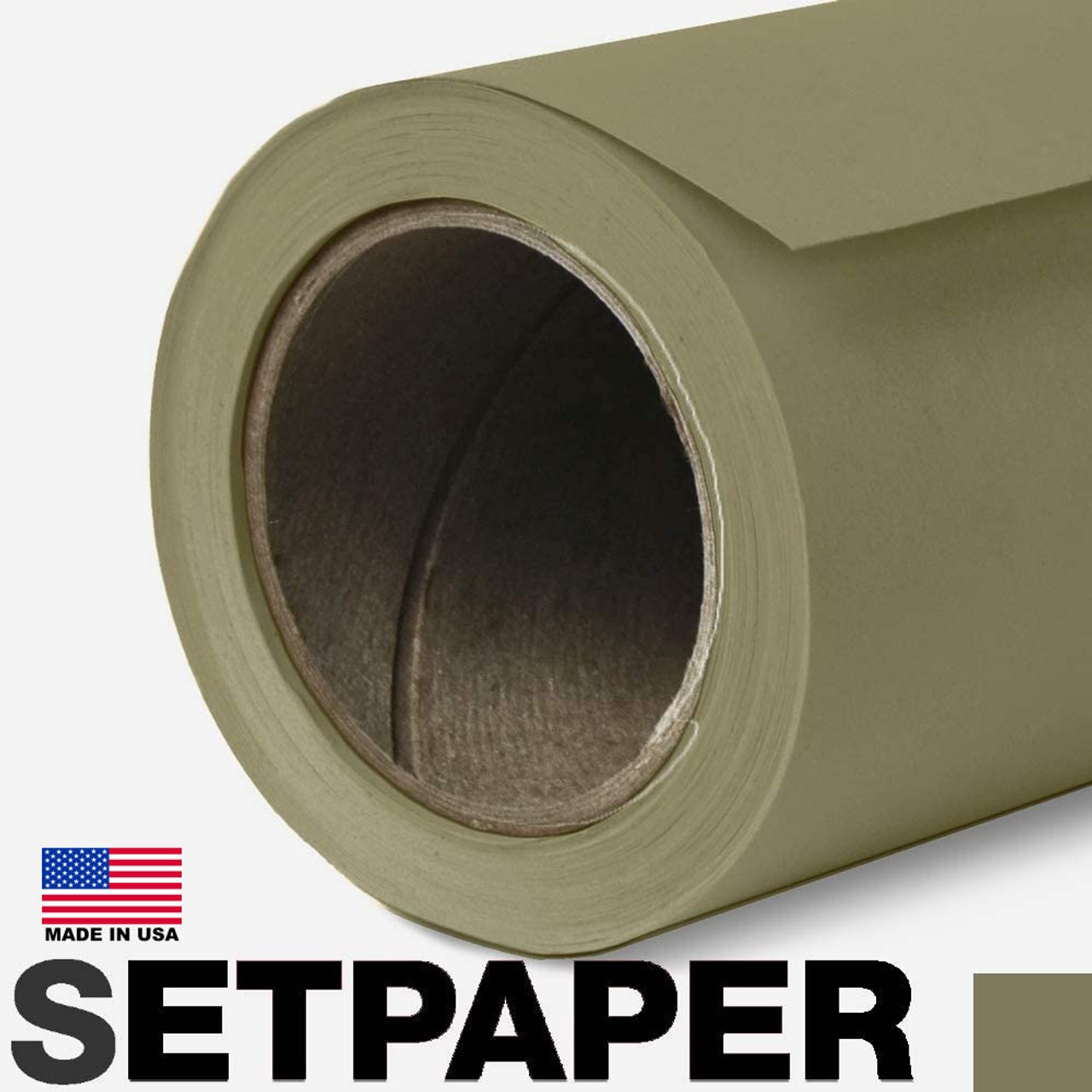 "EXTRA LONG SETPAPER - LEAF GREEN 107"" x 36' (2.7 x 11m)"