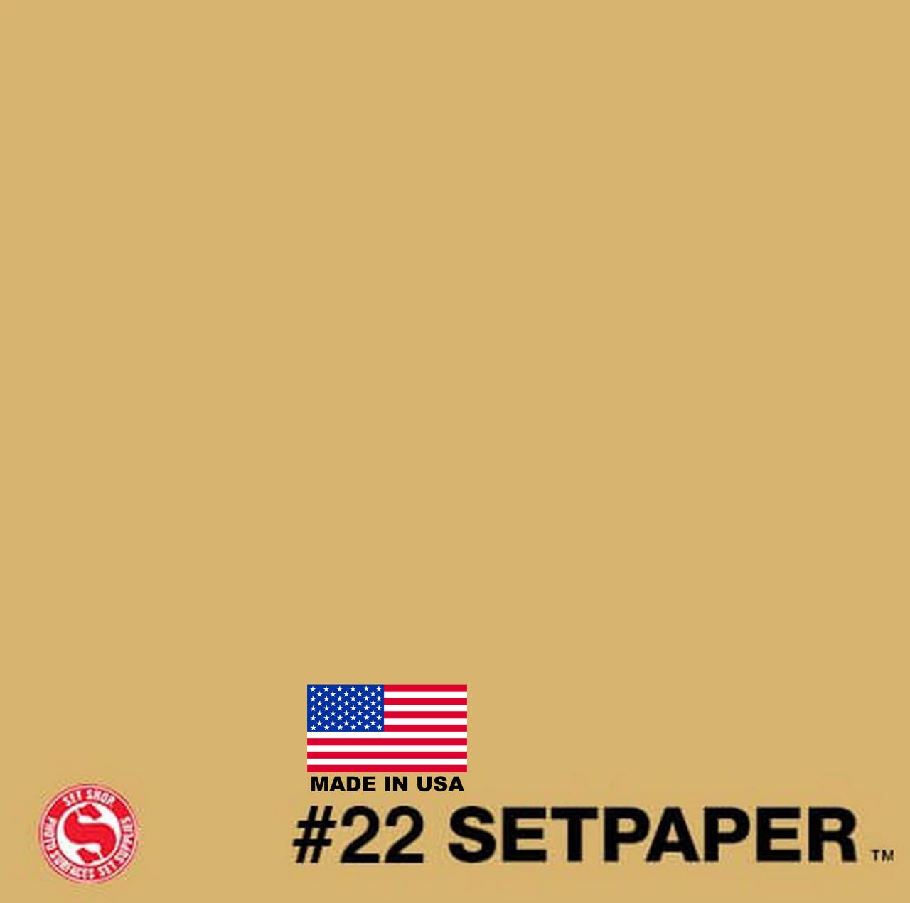 """SETPAPER - BUFF 107"""" x 36' (2.7 x 11m)"""