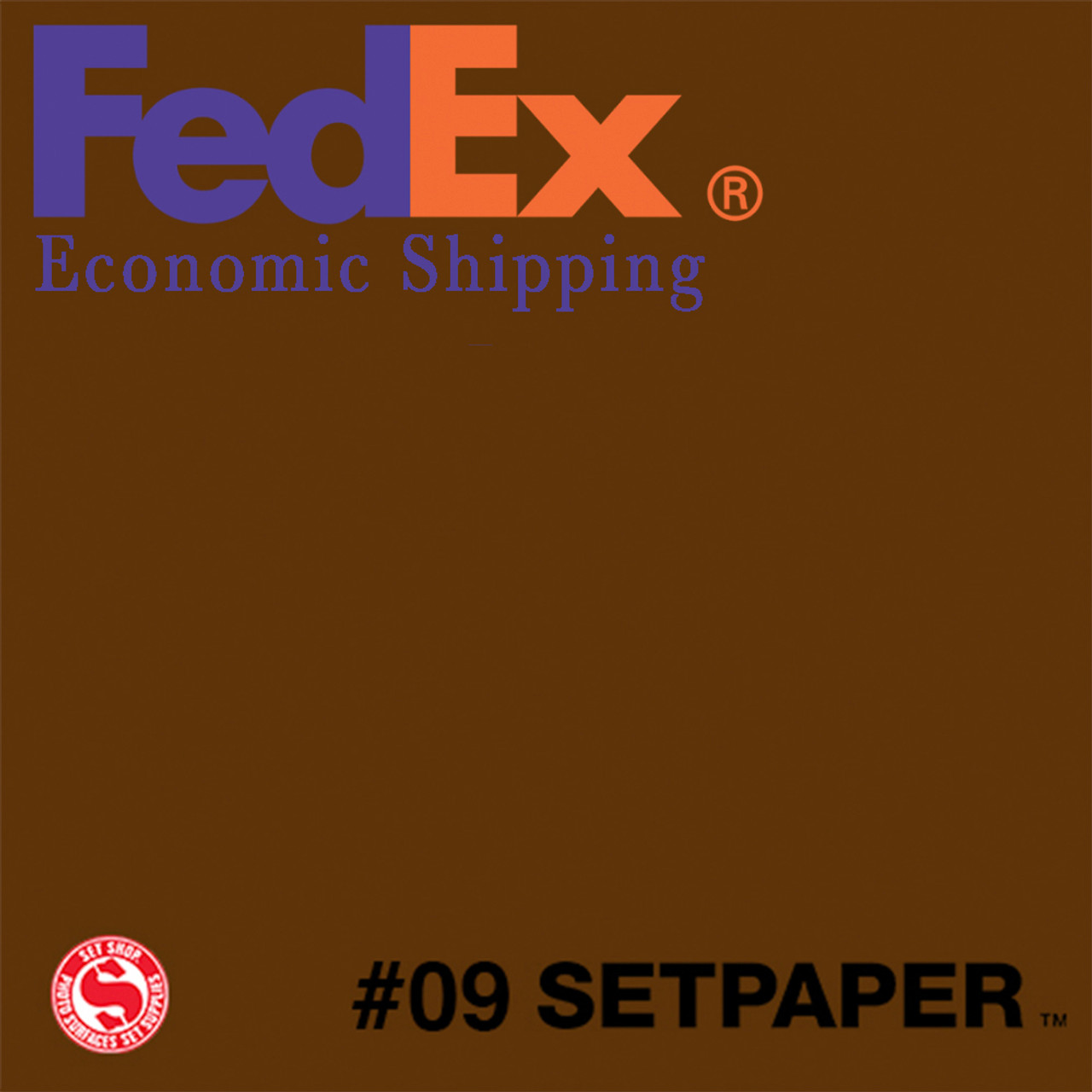 "(ECONOMIC SHIPPING) SETPAPER - DARK BROWN 48"" x 36' (1.2 x 11m)"