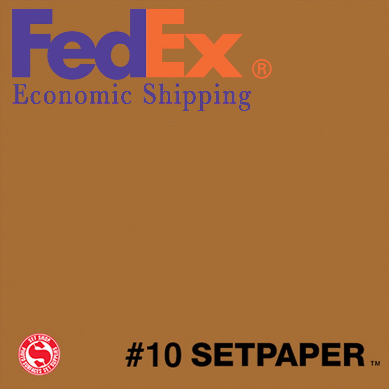 "(ECONOMIC SHIPPING) SETPAPER - BURNT UMBER 48"" x 36' (1.2 x 11m)"