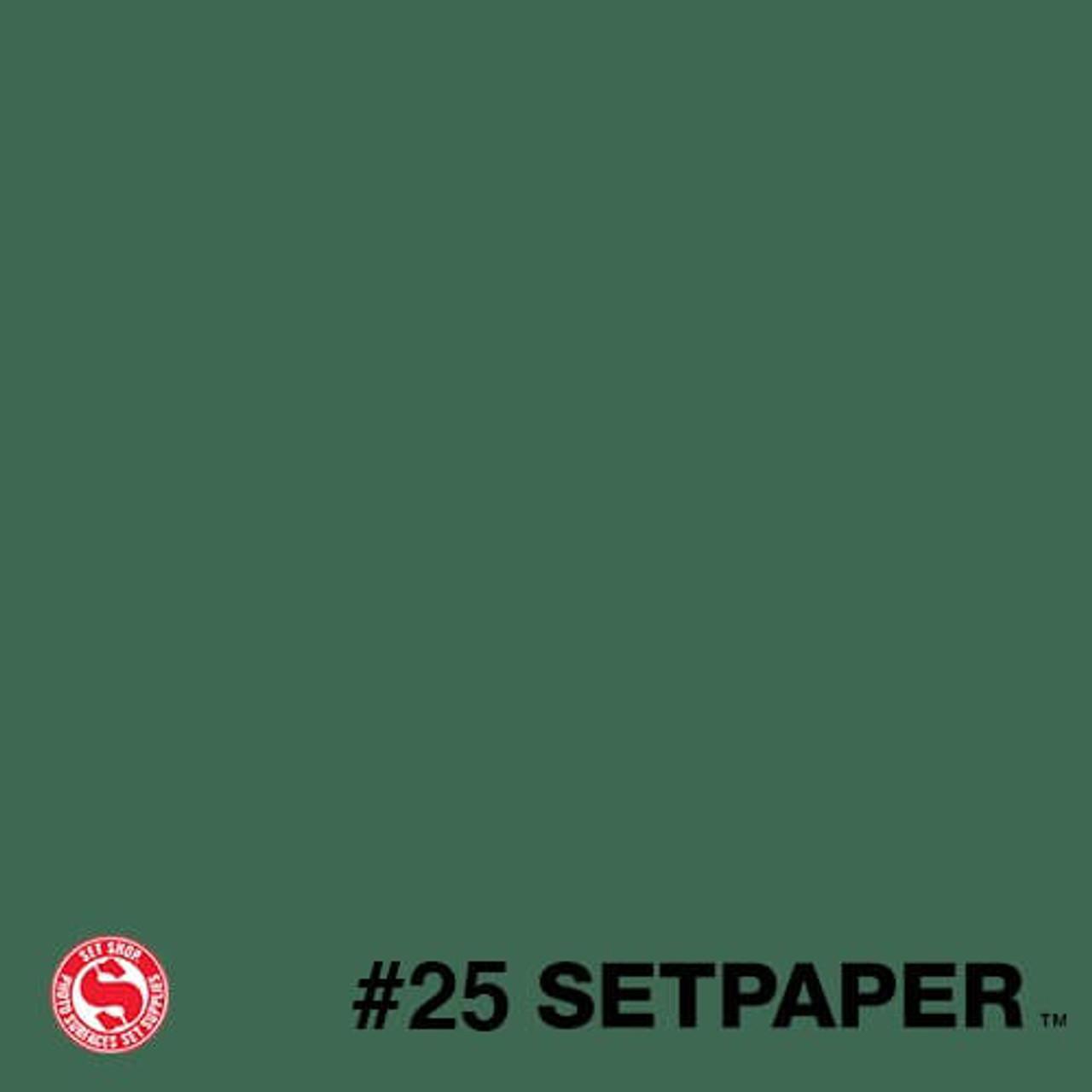 """225 SETPAPER - DARK GREEN 26"""" x 36' (0.66m  X 11m)"""
