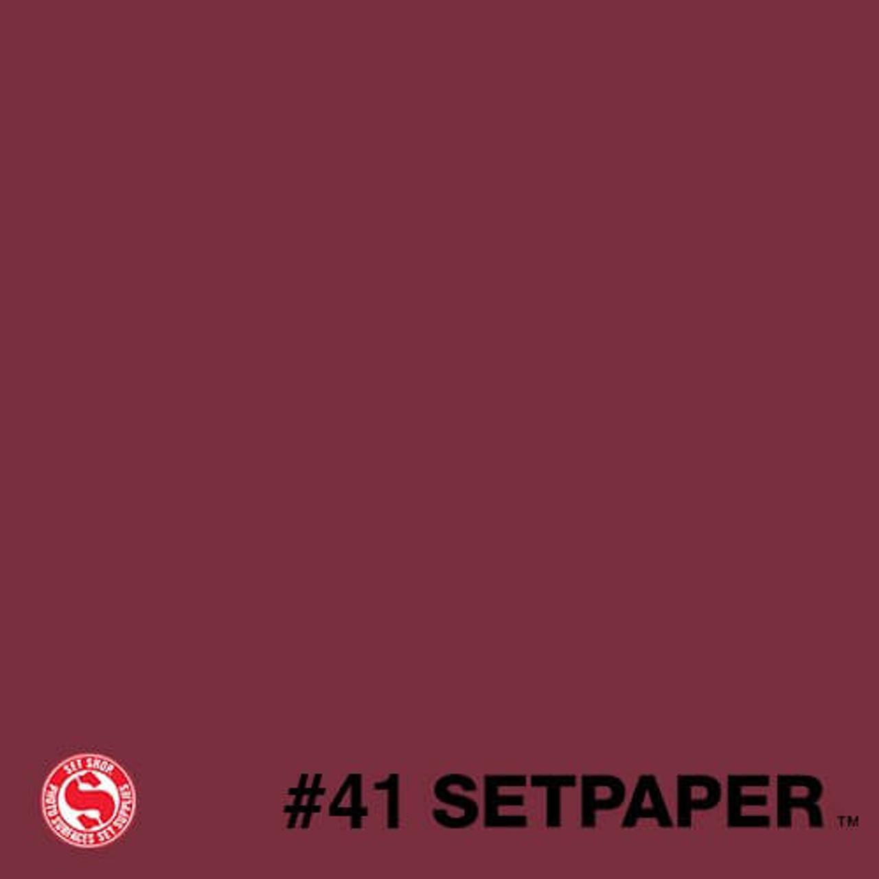 """241 SETPAPER - RED 26"""" x 36' (0.66m  X 11m)"""