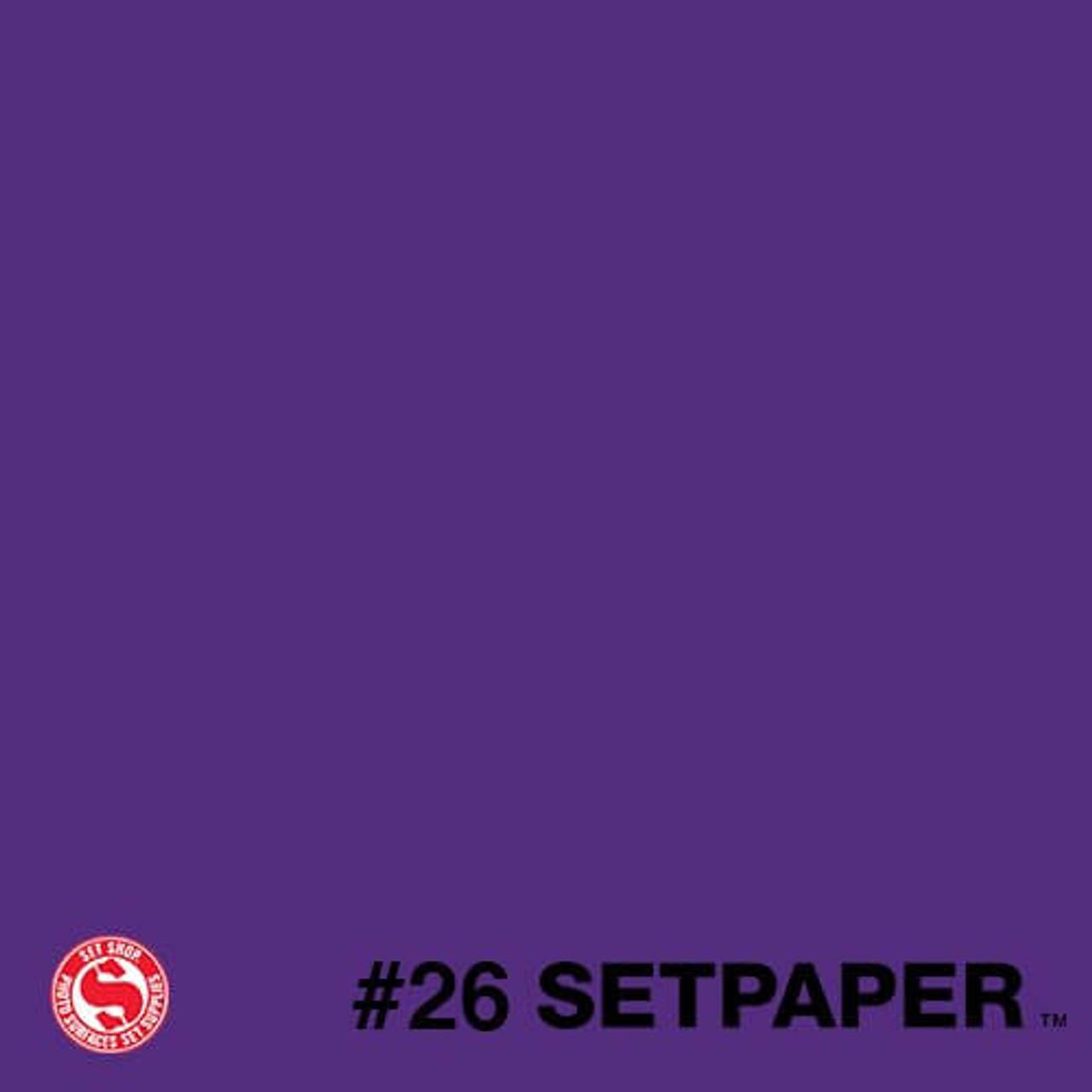 """226 SETPAPER - DEEP PURPLE 26"""" x 36' (0.66m  X 11m)"""